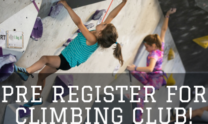 Climbing Club Pre-registration