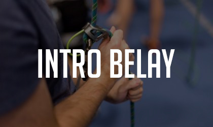 Intro to Belay Class