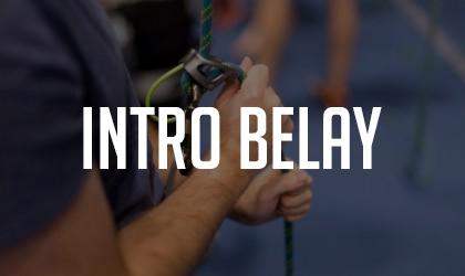 Intro Belay Class