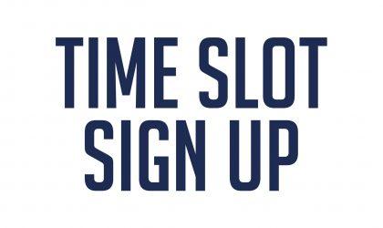 CRG Warwick Time Slot Sign Up