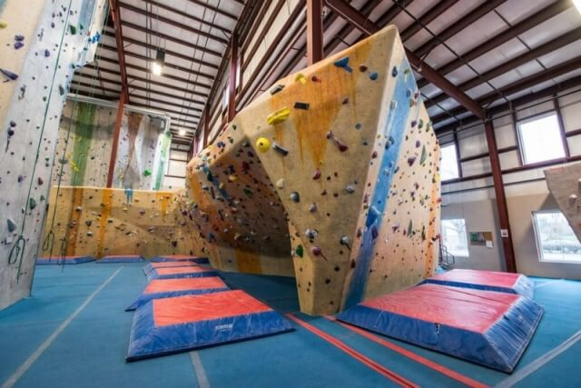 The bouldering area at Central Rock Gym Watertown