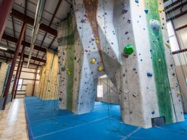Upstairs top roping walls at Central Rock Gym Watertown