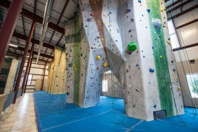 Upstairs top roping walls at Central Rock Gym Watertown